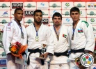 Sagi Muki (ISR), Florent Urani (FRA), Rustam Orujov (AZE), Victor Scvortov (UAE) - Grand Slam Baku (2014, AZE) - © IJF Media Team, International Judo Federation