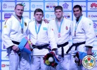 Miklós Cirjenics (HUN), Maxim Rakov (KAZ), Dimitri Peters (GER), Ramadan Darwish (EGY) - Grand Prix Astana (2014, KAZ) - © IJF Media Team, International Judo Federation