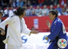 Roni Schwartz (ISR), Andreea Chitu (ROU) - Grand Slam Tyumen (2014, RUS) - © IJF Media Team, International Judo Federation