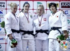 Mayra Aguiar (BRA), Kayla Harrison (USA), Tomomi Okamura (JPN), Daria Pogorzelec (POL) - Grand Slam Tyumen (2014, RUS) - © IJF Media Team, International Judo Federation