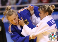 Marta Labazina (RUS), Martyna Trajdos (GER) - Grand Prix Ulaanbaatar (2014, MGL) - © IJF Media Team, International Judo Federation