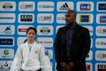 Yarden Gerbi (ISR), Teddy Riner (FRA) - Grand Slam Paris (2014, FRA) - © Christian Fidler