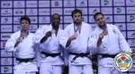 Teddy Riner (FRA), Ryu Shichinohe (JPN), Renat Saidov (RUS), Rafael Silva (BRA) - World Championships Chelyabinsk (2014, RUS) - © IJF Media Team, International Judo Federation