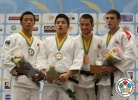 Chang-Rim An (KOR), Yuji Yamamoto (JPN), Koba Mchedlishvili (GEO), Nuno Saraiva (POR) - World Championships Juniors Fort Lauderdale (2014, USA) - © IJF Media Team, International Judo Federation