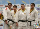 Duurenbayar Ulziibayar (MGL), Guga Kibordzalidze (GEO), Iakiv Khammo (UKR), Ruslan Shakhbazov (RUS) - World Championships Juniors Fort Lauderdale (2014, USA) - © IJF Media Team, International Judo Federation