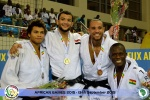 Mohamed Mohyeldin (EGY), Faye Njie (GAM), Edson Madeira (MOZ), Emmanuel Nartey (GHA) - African Games Brazzaville (2015, CGO) - © African Judo Union