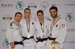Patrick Gagné (CAN), Nathon Burns (IRL), Antoine Bouchard (CAN), Jasper Lefevere (BEL) - African Open Port Louis (2015, MRI) - © African Judo Union