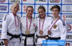 Andrea Bekic (CRO), Tena Sikic (CRO), Nieke Nordmeyer (GER), Marica Perisic (SRB) - European Cup Belgrade (2015, SRB) - © JudoInside.com, judo news, photos, videos and results