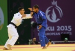 Georgii Zantaraia (UKR), David Larose (FRA) - European Games Baku (2015, AZE) - © Emir Incegul, Turkish Judo Federation