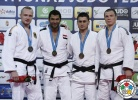 Ramadan Darwish (EGY), Dimitri Peters (GER), Adlan Bisultanov (RUS), Artem Bloshenko (UKR) - Grand Prix Budapest (2015, HUN) - © IJF Media Team, International Judo Federation