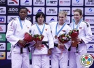 Shori Hamada (JPN), Audrey Tcheumeo (FRA), Kayla Harrison (USA), Gemma Gibbons (GBR) - Grand Prix Qingdao (2015, CHN) - © IJF Media Team, International Judo Federation