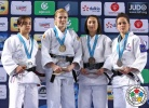 Maryna Cherniak (UKR), Julia Figueroa (ESP), Aurore Urani Climence (FRA), Ebru Sahin (TUR) - Grand Prix Tbilisi (2015, GEO) - © IJF Media Team, International Judo Federation