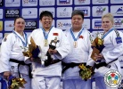 Qian Qin (CHN), Carolin Weiss (GER), Marine Erb (FRA), Sisi Ma (CHN) - Grand Prix Ulaanbaatar (2015, MGL) - © IJF Media Team, International Judo Federation