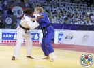 Clarisse Agbegnenou (FRA), Martyna Trajdos (GER) - Grand Slam Abu Dhabi (2015, UAE) - © IJF Media Team, International Judo Federation