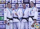 Marhinde Verkerk (NED), Mayra Aguiar (BRA), Guusje Steenhuis (NED), Abigel Joo (HUN) - Grand Slam Abu Dhabi (2015, UAE) - © IJF Media Team, International Judo Federation