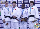 Sisi Ma (CHN), Tessie Savelkouls (NED), Song Yu (CHN), Emilie Andeol (FRA) - Grand Slam Abu Dhabi (2015, UAE) - © IJF Media Team, International Judo Federation