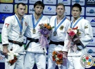Khasan Khalmurzaev (RUS), Ushangi Margiani (GEO), Goki Maruyama (JPN), Dominic Ressel (GER) - Grand Slam Baku (2015, AZE) - © IJF Media Team, International Judo Federation