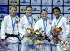Kathrin Unterwurzacher (AUT), Martyna Trajdos (GER), Anicka van Emden (NED), Alice Schlesinger (GBR) - Grand Slam Baku (2015, AZE) - © IJF Media Team, International Judo Federation