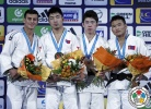 Tumurkhuleg Davaadorj (MGL), Georgii Zantaraia (UKR), Altansukh Dovdon (MGL), Tomofumi Takajo (JPN) - Grand Slam Paris (2015, FRA) - © IJF Media Team, International Judo Federation