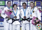 Tina Trstenjak (SLO), Juul Franssen (NED), Martyna Trajdos (GER), Yarden Gerbi (ISR) - Grand Slam Paris (2015, FRA) - © IJF Media Team, International Judo Federation