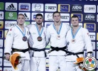Cyrille Maret (FRA), Rafael Buzacarini (BRA), Lukas Krpálek (CZE), Michael Korrel (NED) - Grand Slam Paris (2015, FRA) - © IJF Media Team, International Judo Federation