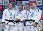 Kayla Harrison (USA), Guusje Steenhuis (NED), Gemma Gibbons (GBR), Anamari Velensek (SLO) - Grand Slam Tokyo (2015, JPN) - © IJF Media Team, International Judo Federation