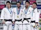 Avtandili Tchrikishvili (GEO), SeungSu Lee (KOR), Takanori Nagase (JPN), Ki-Chun Wang (KOR) - Grand Slam Tokyo (2015, JPN) - © IJF Media Team, International Judo Federation