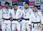 Mashu Baker (JPN), Asley Gonzalez (CUB), DongHan Gwak (KOR), Daiki Nishiyama (JPN) - Grand Slam Tokyo (2015, JPN) - © IJF Media Team, International Judo Federation