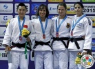 Joana Ramos (POR), Yingnan Ma (CHN), Mareen Kraeh (GER), Roni Schwartz (ISR) - Grand Slam Tyumen (2015, RUS) - © IJF Media Team, International Judo Federation