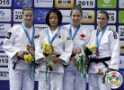 Corina Stefan (ROU), Tsukasa Yoshida (JPN), Catherine Beauchemin-Pinard (CAN), Sanne Verhagen (NED) - Grand Slam Tyumen (2015, RUS) - © IJF Media Team, International Judo Federation