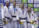 Jevgenijs Borodavko (LAT), Martin Pacek (SWE), Karl-Richard Frey (GER), Toma Nikiforov (BEL) - Grand Slam Tyumen (2015, RUS) - © IJF Media Team, International Judo Federation