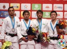 Naohisa Takato (JPN), Orkhan Safarov (AZE), Boldbaatar Ganbat (MGL), Sharafuddin Lutfillaev (UZB) - IJF World Masters Rabat (2015, MAR) - © IJF Media Team, International Judo Federation