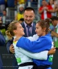 Odette Giuffrida (ITA), Majlinda Kelmendi (KOS), Driton Kuka (KOS),  RESPECT (IJF), judo changed my life (IJF), why judo is good (IJF), why judo is so important (IJF), Girls Love Judo (IJF) - 2016 Olympic Games day 2 Judo U66kg & U52kg (2016, BRA) - © David Finch, Judophotos.com