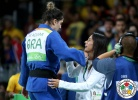 Rosicleia Campos (BRA), Mayra Aguiar (BRA) - 2016 Olympic Games day 6 Judo U100kg & U78kg (2016, BRA) - © IJF Media Team, International Judo Federation