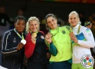 Kayla Harrison (USA), Audrey Tcheumeo (FRA), Mayra Aguiar (BRA), Anamari Velensek (SLO) - 2016 Olympic Games day 6 Judo U100kg & U78kg (2016, BRA) - © IJF Media Team, International Judo Federation