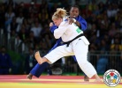 Kayla Harrison (USA), Audrey Tcheumeo (FRA) - 2016 Olympic Games day 6 Judo U100kg & U78kg (2016, BRA) - © IJF Media Team, International Judo Federation