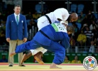 Teddy Riner (FRA), Mohammed Tayeb (ALG) - 2016 Olympic Games day 7 Judo O100 & O78kg (2016, BRA) - © IJF Media Team, International Judo Federation