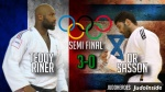 Teddy Riner (FRA), Or Sasson (ISR) - Olympic Games Rio de Janeiro (2016, BRA) - © JudoHeroes