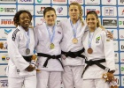 Jemima Yeats-Brown (GBR), Ebony Drysdale Daley (JAM), Nadia Merli (BRA), Carola Paissoni (ITA) - European Open Glasgow (2016, SCO) - © British Judo Association