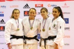 Margaux Pinot (FRA), Cloe Yvin (FRA), Yasmine Horlaville (FRA), Héloïse Lacouchie (FRA) - French Championships Montbeliard (2016, FRA) - © French Judo Federation / FFJudo