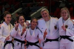 Odette Giuffrida (ITA), Theresa Stoll (GER), Nadja Bazynski (GER), Szaundra Diedrich (GER), Jasmin Kuelbs (GER) - Golden League women Grozny (2016, RUS) - © Emir Incegul, Turkish Judo Federation