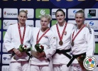 Karen Harrison (GBR), Kayla Harrison (USA), Anamari Velensek (SLO), Karen Stevenson (NED), Abigel Joo (HUN) - Grand Prix Budapest (2016, HUN) - © IJF Media Team, International Judo Federation