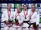 Kayla Harrison (USA), Anamari Velensek (SLO), Abigel Joo (HUN), Karen Stevenson (NED) - Grand Prix Budapest (2016, HUN) - © IJF Media Team, International Judo Federation