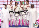 Otgontsetseg Galbadrakh (KAZ), Milica Nikolic (SRB), Urantsetseg Munkhbat (MGL), Nathalia Brigida (BRA) - Grand Slam Abu Dhabi (2016, UAE) - © IJF Media Team, International Judo Federation