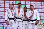 Aleksandar Kukolj (SRB), Axel Clerget (FRA), Tural Safguliyev (AZE), Nemanja Majdov (SRB) - Grand Slam Abu Dhabi (2016, UAE) - © IJF Media Team, International Judo Federation