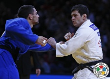 Avtandili Tchrikishvili (GEO), Ivaylo Ivanov (BUL) - Grand Slam Paris (2016, FRA) - © IJF Media Team, International Judo Federation