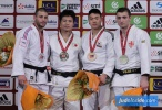 Daiki Nishiyama (JPN), Alexandre Iddir (FRA), DongHan Gwak (KOR), Varlam Liparteliani (GEO) - Grand Slam Paris (2016, FRA) - © JudoInside.com, judo news, photos, videos and results