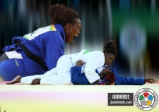 Emilie Andeol (FRA) - Olympic Games Rio de Janeiro (2016, BRA) - © JudoHeroes & IJF Media, Copyright: www.ijf.org