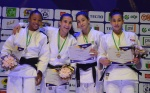 Meriem Moussa (ALG), Christianne Legentil (MRI), Faiza Aissahine (ALG), Ikram Soukate (MAR) - African Championships Antananarivo (2017, MAD) - © African Judo Union