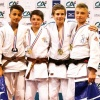 Romain Valadier Picard (FRA), Heydar Ouchen (FRA), James Leclerc (FRA), Mathieu Ganet (FRA) - French U18 Championships Ceyrat (2017, FRA) - © French Judo Federation / FFJudo
